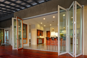 Aluminum Wood Folding Door System