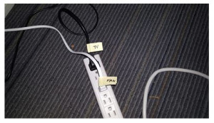 Be sure and label those cords on the plug end.  If you do not have a labeling machine, just use a piece of paper, write the component name, then cover with tape.