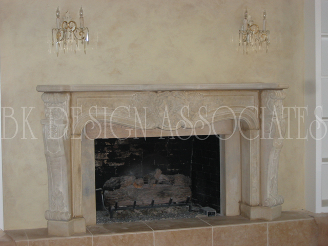 Custom Fireplace Design Interior In Houston Texas